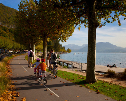 La voie verte du lac d'Annecy