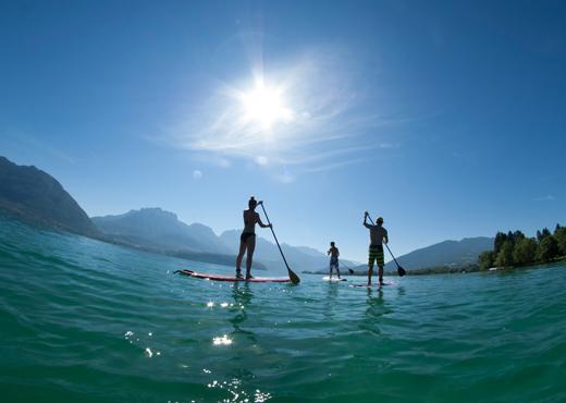 Sortie paddle entre amis sur le lac d'Annecy