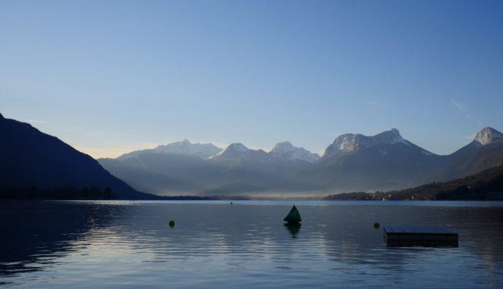 Le lac au petit matin de la Glagla Race