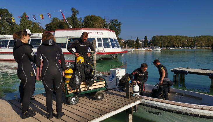 Préparatifs pour la plongée