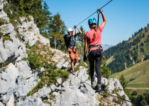 Chemin des tyroliennes