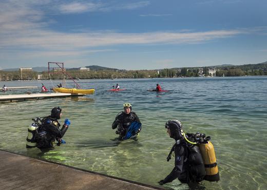 Plongée au lac d'Annecy