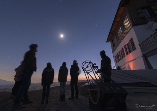Observation du ciel depuis le Semnoz