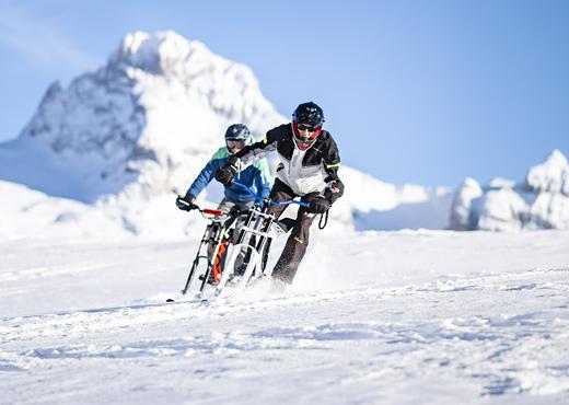 Vélo ski au Grand Bornand