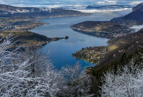 Le lac depuis les hauteurs de Talloires-Montmin