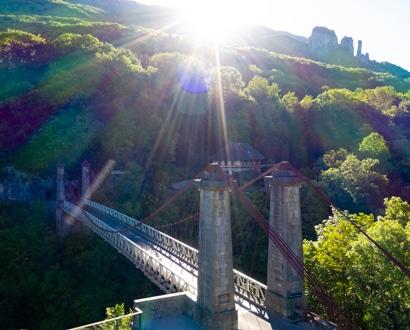 Vue du Pont de l'Abîme et des Tours Saint-Jacques