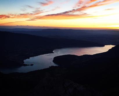 Le lac d'Annecy depuis la Forclaz
