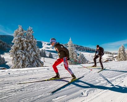 Ski de fond en mode skating