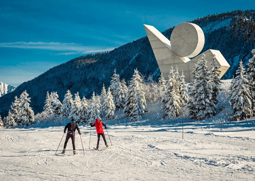 Ski de fond au Plateau des Glières