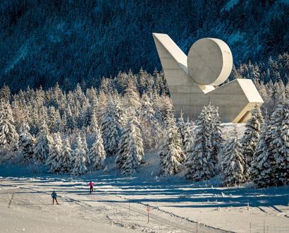 Le Plateau des Glières en hiver