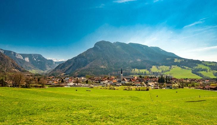 Vue du village de Thorens-Glières