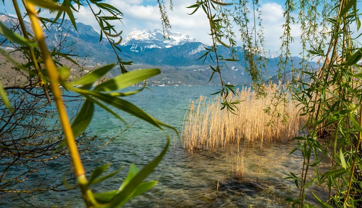 Le lac d'Annecy et la Tournette