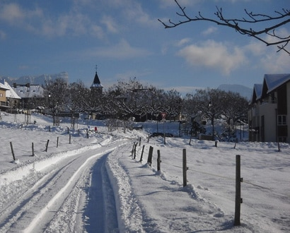 Argonay sous la neige
