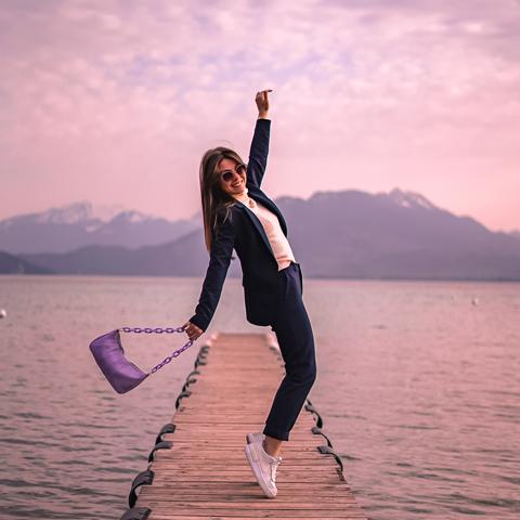 Séance shooting face au lac d'Annecy