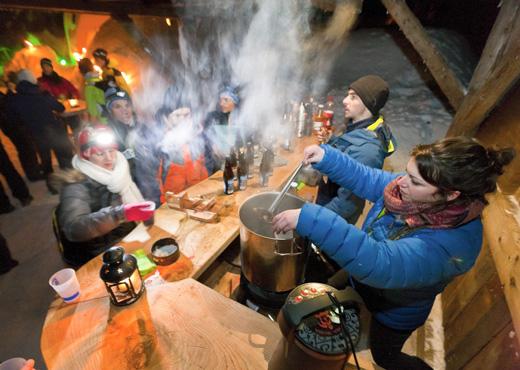 Soirée à l'Eco-Bivouac Village d'igloos d'Annecy-Semnoz